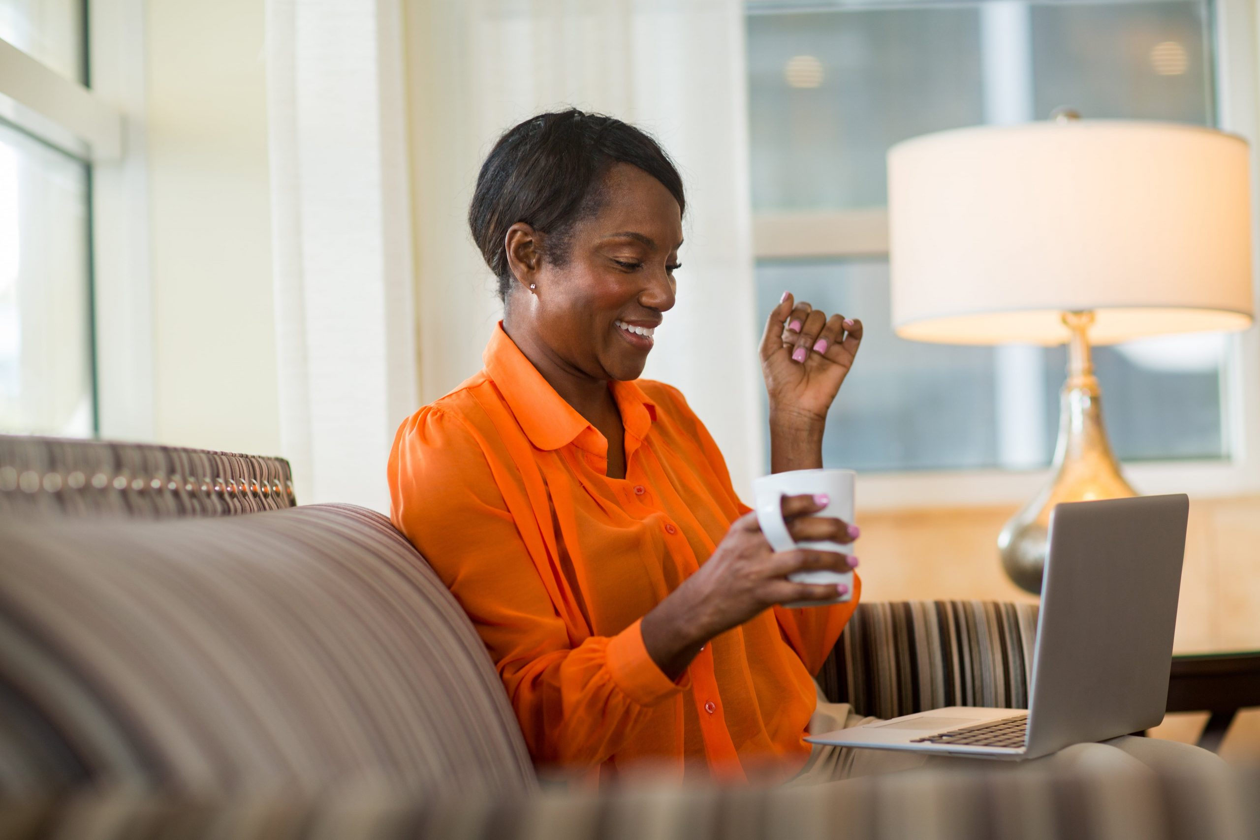 blog image of woman searching for apartment using online rental portal